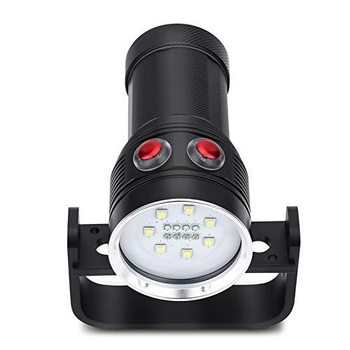 Kudoo Linterna de Mano, iluminación LED, luz Azul, 100 M, Linterna subacuática súper Brillante, para fotografía subacuática, iluminación, iluminación subacuática