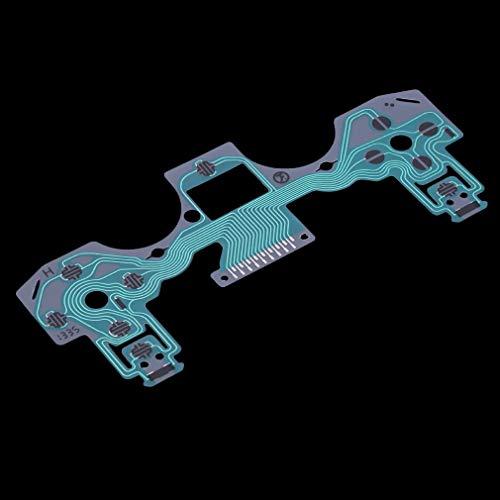 YLWL Parte di Riparazione della Tastiera a Pellicola conduttiva per Playstation 4 per Controller PS4 Verde