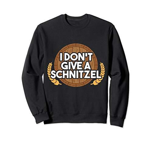 Alkohol Schnitzel Bier Humor Outfit I Party Saufen Beer Sweatshirt