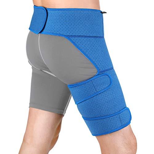 DOACT Cinturón de Soporte de Muslo, Ajustable Vendaje Muslo Se utiliza para Pierna e Cadera, Prevenir la Distensión Muscular, Apoyando la Cintura, Adecuado para Hombres y Mujeres.