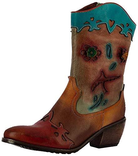 Laura Vita CT1908-Z1 Gacteo 01 Damen Schuhe Stiefel Westernstiefel, Größe:40 EU, Farbe:Rot