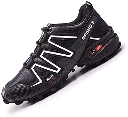 KUXUAN Zapatillas de Ciclismo - Zapatillas de Bicicleta de Montaña,Zapatillas MTB Sin Bloqueo para Hombres y Mujeres Zapatillas Eléctricas para Montar en Bicicleta,Black-43EU