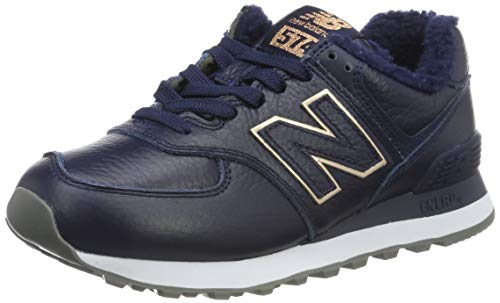 New Balance Damen 574v2 Sneaker, Blau (Navy Navy), 37.5 EU