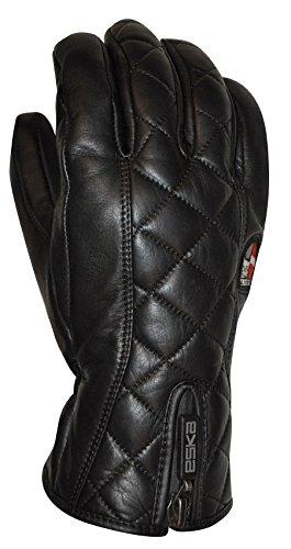 ESKA Damen MIKA Ski Winter Handschuhe, Black, 8