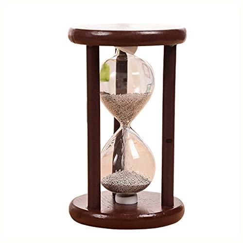 WZHZJ Retro kreatywny drewniany klepsydra piaskowy zegar czasomierze dekoracja szczotkowanie zęby herbata ozdoby domowe urodziny
