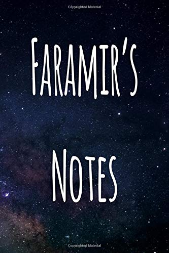Faramir's Notes: Personalised Name Notebook - 6x9 119 page custom notebook- unique specialist personalised gift!