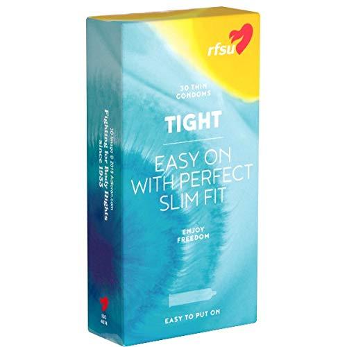 RFSU Tight Slim Fit Value Pack: 30 schmale Kondome, 49mm nominale Breite