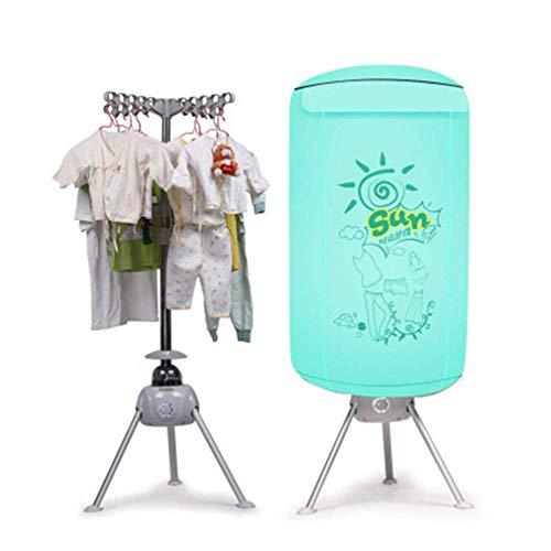 Clothes Dryer 900W a Doppio Strato di Silent elettrici Asciugatrici Abbigliamento Rapida Asciugatura Macchina elettrica Asciugatura Guardaroba Pieghevole Governo di immagazzinaggio,Verde