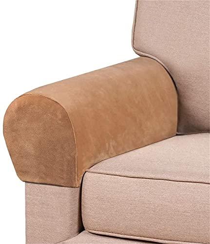 HYLDM Fundas de reposabrazos elásticos de Terciopelo Grueso para sillas y sofás Fundas de sillón para Brazos Fundas de Brazo de sofá Fundas de reposabrazos para sofá Antideslizantes (CAM
