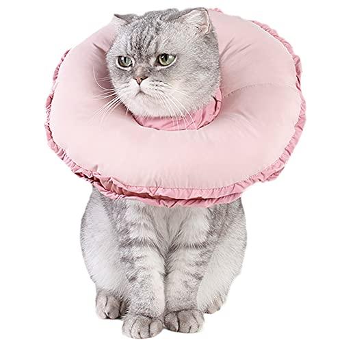 ZuckerTi Collar cómodo con forma de flor, protección para curación de heridas, protección inteligente para perros, gatos, conejos, conejos, mascotas