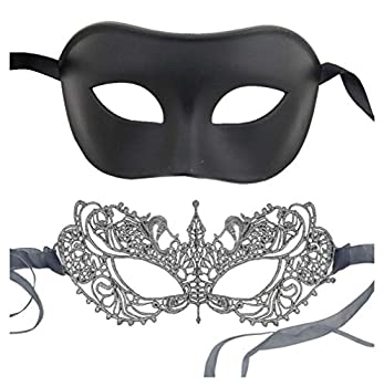 Luxury Mask New Fifty Shades Darker Mask Set Black and Silver  Black Silver
