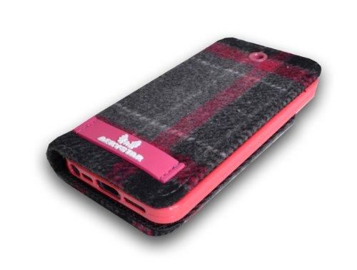 Aerystar Jakarta Plaid iPhone 5 Flip Stand Folio Wallet Case with Card Holder