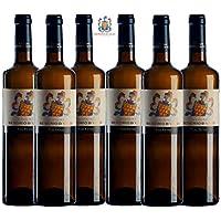 SEÑORÍO DE VALEI Vino blanco - Albariño Rias Baixas - Selección de nuestros mejores viñedos - Producto Gourmet - caja de vino - Vino bueno para regalo - vino gallego - 6 botellas x 75cl