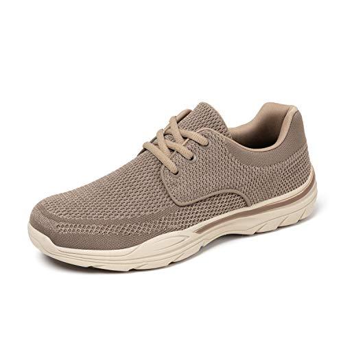 Hombre Zapatos de Cordones Sneakers Vestir Casuales Zapatillas Bajas Deportivas Mocasines Marrón 42