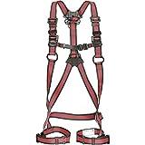 タジマ フルハーネス安全帯ZA 軽量アルミ・ワンタッチ腿バックルモデル Mサイズ赤 AZAM-LRE