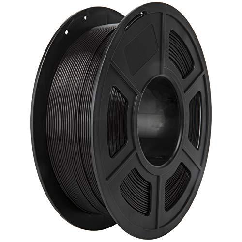PLA Filament, PRINSFIL Filament PLA 1.75 mm, 3D Printing Materials for 3D Printer, 1 kg 1 Spool,Jet Black
