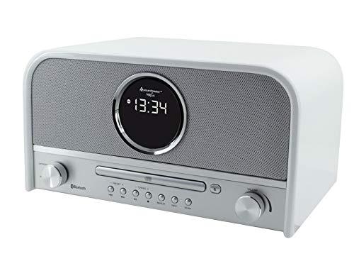 Soundmaster NR850WE Nostalgieanlage DAB+ UKW USB Radio mit CD-MP3 und Bluetooth