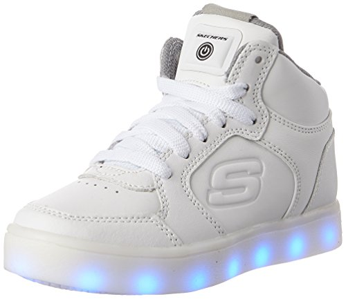 Skechers Boys Energy Lights Trainers, White (White), 12.5 Child UK (31 EU)