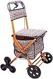 FGVDJ Camminatori Standard Leggeri, Carrello per Anziani del camminatore Il Vecchio Carrello della Spesa Pieghevole può sedersi Carrello della Spesa da Viaggio, Cammi