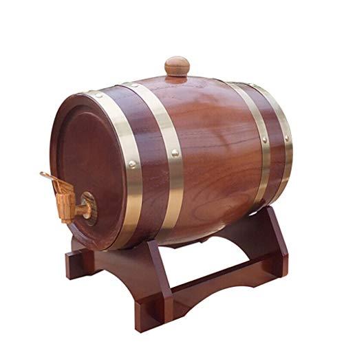 WYDM Barril de Roble de Madera, Cuba/Barril de Vino/Barril de Vino Decorativo/Barril de Cerveza para el hogar (5L / 10L) (Capacidad : 10L, Color : E)