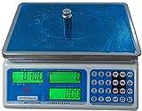 MFLASMF Básculas electrónicas Báscula de pesaje de Alta precisión Báscula de cálculo de Precio electrónico de Acero Inoxidable para fábricas Tienda minorista Cocina Restaurante Comida (Col