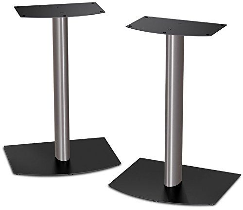 Bose FS-1 Bookshelf Speaker Floor Stands (pair) - Black and Silver