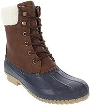 LONDON FOG Womens Wonder Cold Weather Duck Boot Navy Fur Top 11 M US