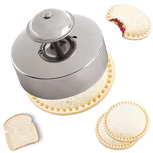 Sandwich Sealer, Sandwich Cutter and Sealer, Food-Grade 304 Stainless Steel Sandwich Sealer, Uncrustables Peanut Butter and Jelly Sandwiches Tool/PBJ Cutter, Uncrustable Sandwich Maker