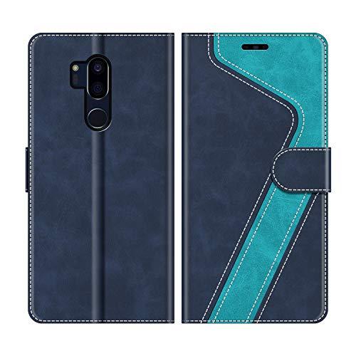MOBESV Custodia LG G7 ThinQ, Cover a Libro LG G7 ThinQ, Custodia in Pelle LG G7 ThinQ Magnetica Cover per LG G7 ThinQ, Elegante Blu