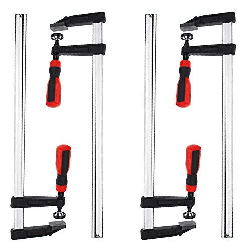 ZCFXGHH F-Klemmen, Hochleistungs-Stangenclips-Set Schnellschieber Holzbearbeitung DIY Hand Long Tools Kit Holzklemme,4pcs 80×400mm