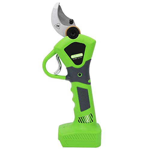 Electric Pruning Shear, 21V Branch Pruning Shear Cordless Li-po Battery Rechargeable Cutter 100-240V(2pcs Battery)