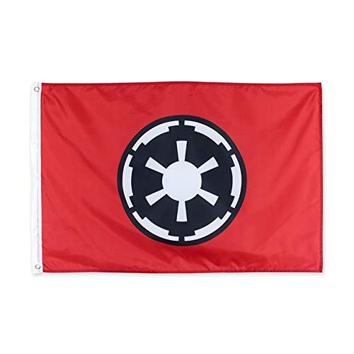 XiaoOu Pride Flag 60 * 90cm 90 * 150cm 120 * 180cm Star Wars Galactic Empire  Flag Hanging Flag,White,90 x 150cm