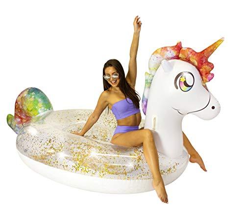 Poolcandy Gigantic Glitter Unicorn Beach & Pool Raft