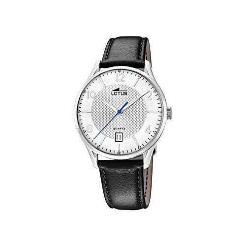 Lotus Herren Analog Quarz Uhr mit Leder Armband 18402/A