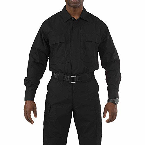 5.11Tactical # 72054Taclite TDU Long Sleeve Shirt Medium schwarz