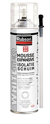 Mousse Expansive Isolation Thermique et Phonique, Blanche, Aérosol de 500 ml