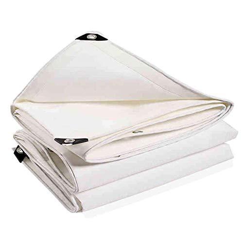 Sterke slijtvaste anti-aging wit canvas regen zonwering schaduw tent outdoor luifel doek voor camping/vrachtwagen (grootte: 3 × 4 m) 3×5m
