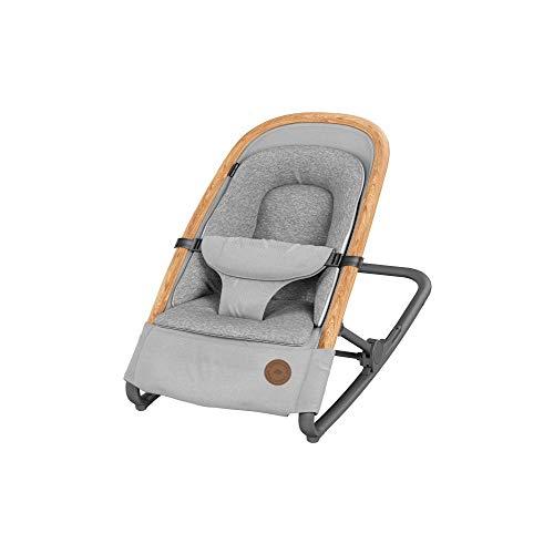 Bébé Confort Kori Transat bébé 2 en1, Transat Léger avec Réducteur Confortable pour Nouveau-Né, de La Naissance à 9 Mois (0-9 Kg), Essential Grey