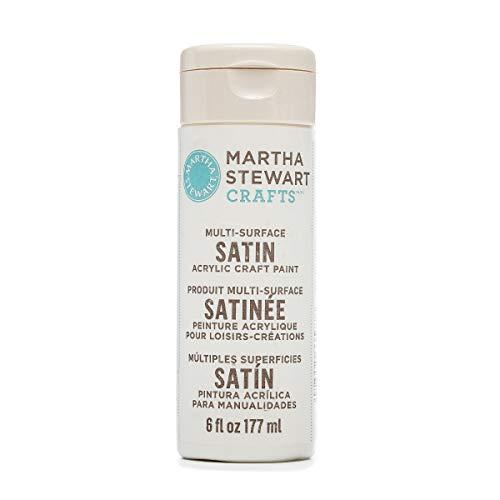 Martha Stewart Crafts 33577 Martha Stewart Multi-Surface Satin Paint, 6 oz, Wedding Cake