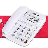 ZTMN Telefono cordless da parete con telefonia fissa per visualizzare il contenuto dell'ufficio senza batterie. (Colore: A) b