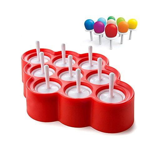 Himki 9er-Set Popsicle Form DIY Joghurt Eis am Stiel Formen Mini Ice Pop Formen