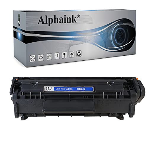 Toner Alphaink Compatibile con HP Q2612X versione da 4000 copie per stampanti HP 1005 HP LASERJET 1010 1012 1015 1018 1020 1022 3015 3020 3055