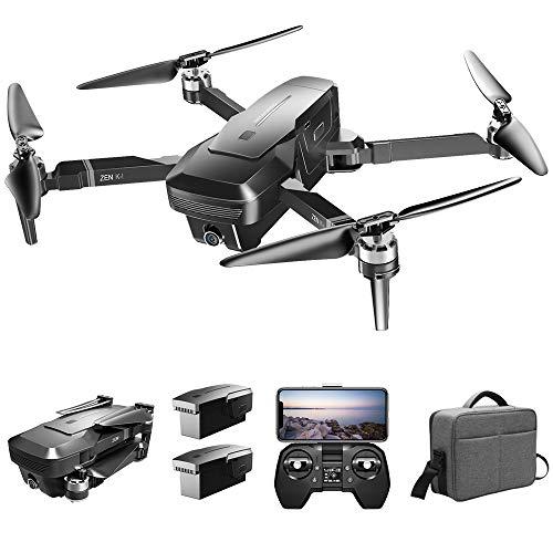 Goolsky VISUO Zen K1 Drone 4K GPS sin Escobillas con Cámara Dual 120 ° Gran Angular 5G WiFi Filtro de Belleza Optiacal Flow Figura Seguir RC Quadcopter con Bolsa Portátil 2 Batería