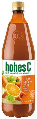 Hohes C Frühstückssaft Orange-Karotte, ohne Zuckerzusatz, PET - 1L - 2x