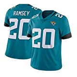 # 20 Maillot de Rugby Ramsey Jaguars pour Homme, T-Shirts de Formation à Séchage Rapide T-Shirts en Maille à Manches Courtes, Sweat Fitness en Fibre de Polyester (S-XXXL)-Green-XXXL