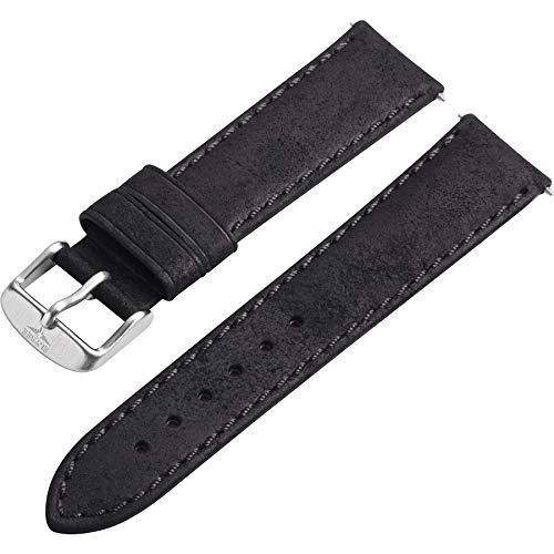 Elysee Uhrenarmband - Hochwertiges Wildleder-Armband mit Dornschließe - 20mm