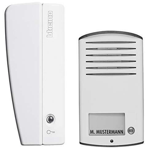 Audio Sprechanlagen-Set, für 1-Familienhaus mit Türstation LINEA 2000, Netzgerät und Hausstation SWING