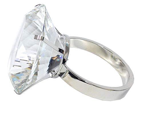 Amlong Crystal Large 3 inch Diameter Crystal Diamond Ring Paperweight