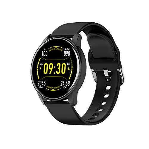 MMTek City Cool, Smartwatch Reloj Inteligente Mujer Hombre Niños Impermeable IP67 Pulsera Actividad con Pulsómetro Podómetro Monitor de Sueño Presión Arterial Calorías Smart Watch Men Women (Negro)