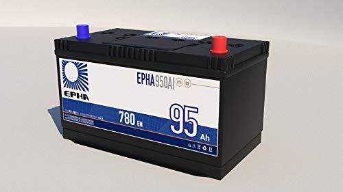 Bateria arranque coche furgoneta todoterreno EPHA950AI 12v 95 Ah 780EN +IZQ ALTA, equivalente a TA955, TB955, G8 Garantia TUDOR